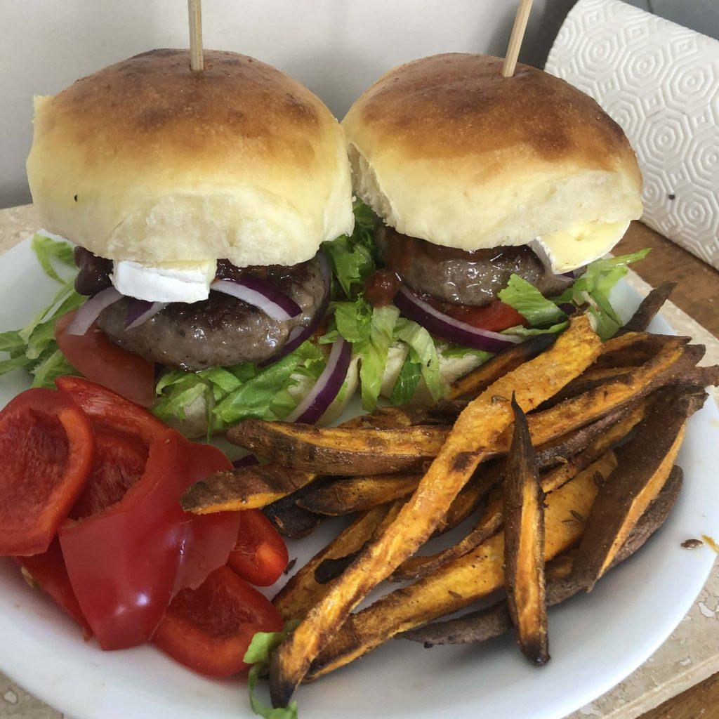 brioche burger rolls and hotdog buns