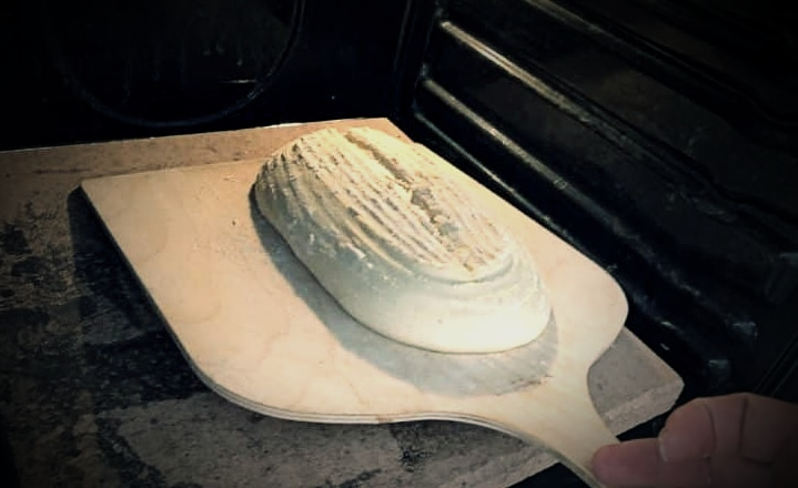 Bread in the oven for oven spring