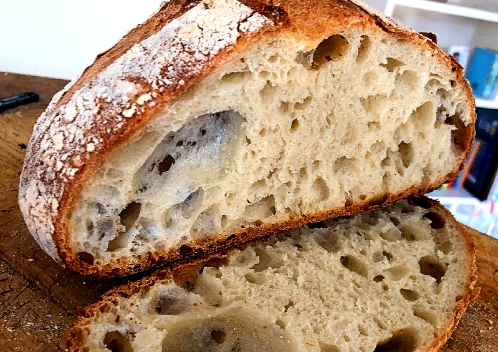 A well made sourdough bread