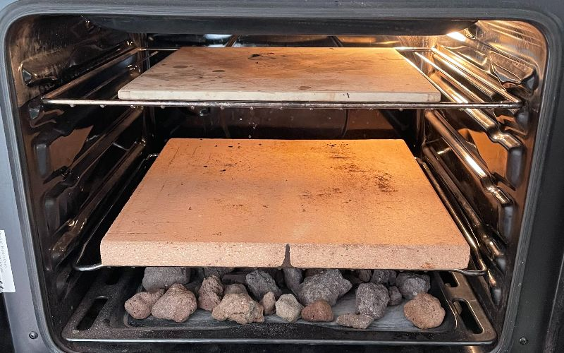 Setting up the oven