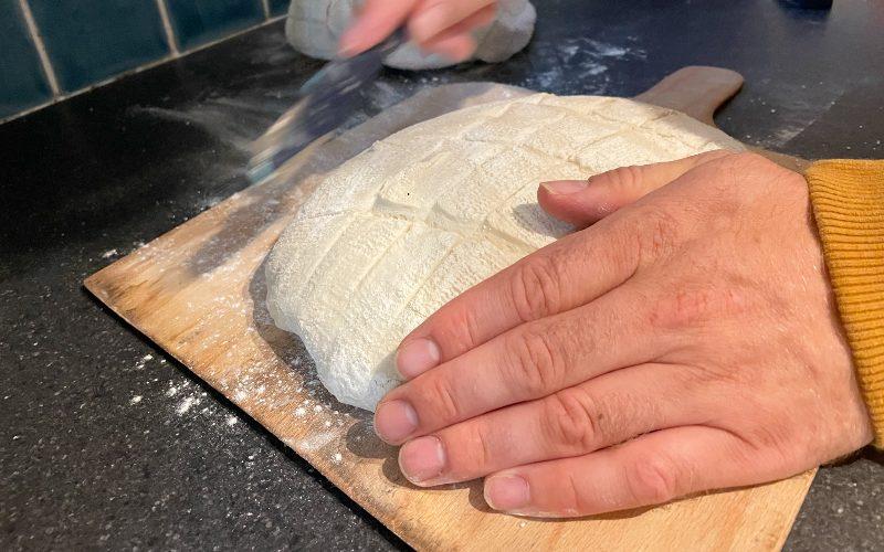 Score the dough
