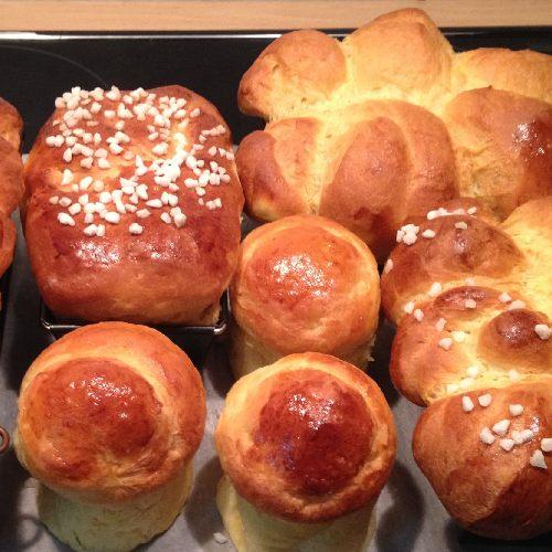 Brioche and croissant comparison